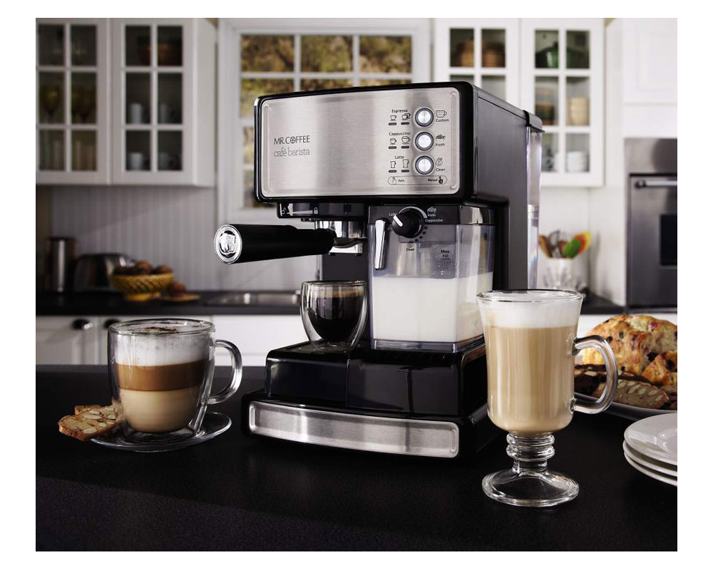 Coffee Maker Cafe : Amazon.com: Mr. Coffee Cafe Barista Espresso Maker with Automatic milk frother, BVMC-ECMP1000 ...