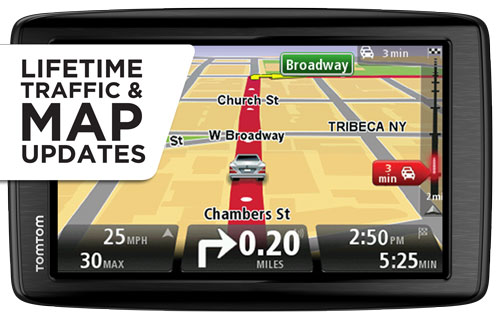 tomtom via 1605tm 6 inch gps navigator with lifetime traffic maps commercial. Black Bedroom Furniture Sets. Home Design Ideas