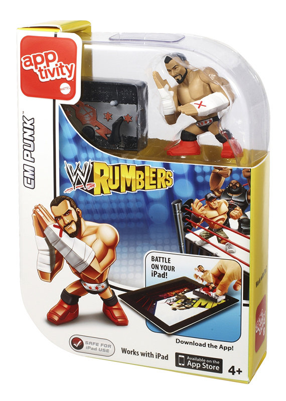 Amazon.com: WWE Rumblers Apptivity Cm Punk Figure: Toys & Games