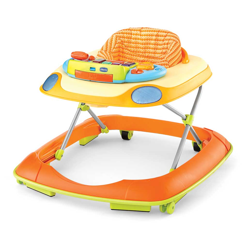Dance Walker Activity Center, Happy Orange : Baby Walkers : Baby