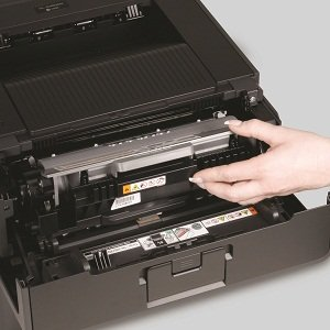 Easy-to-install, high-yield toner cartridge is available for low cost output