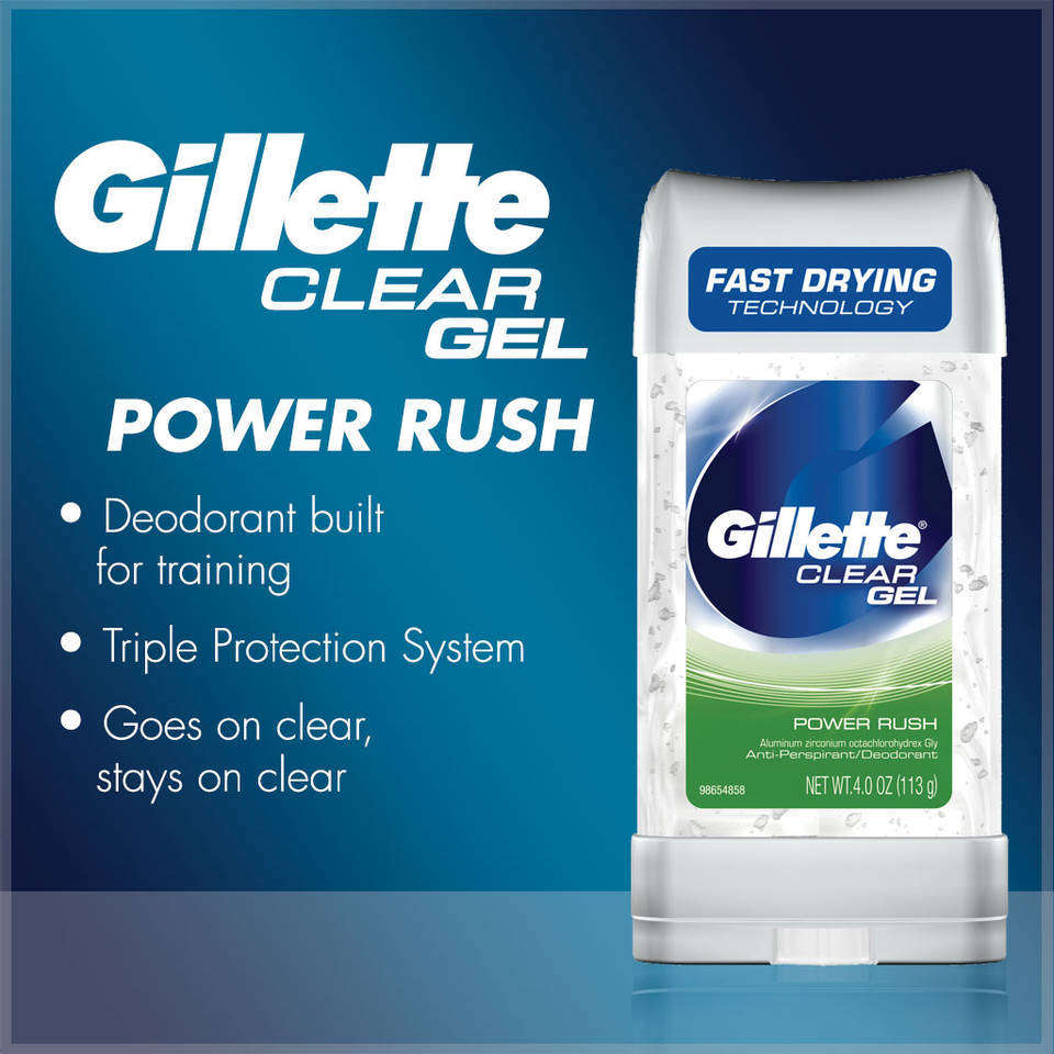 Amazon Com Clear Gel Power Rush Antiperspirant And