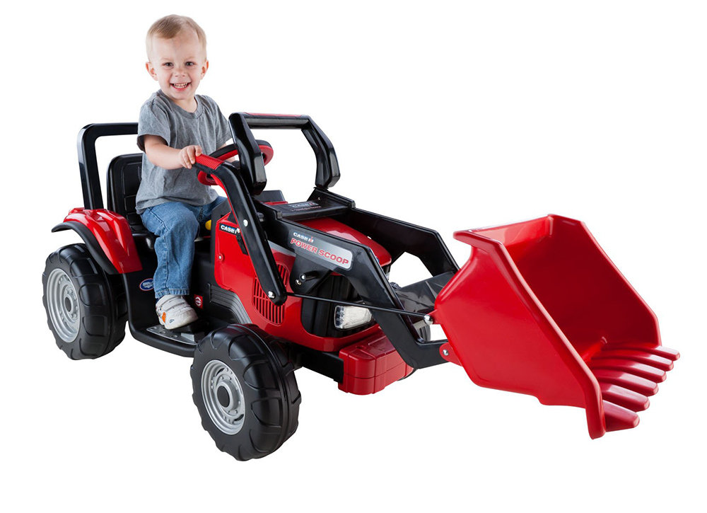 Kids Ride On Toy Tractor Power Scoop Battery Operated 12 V