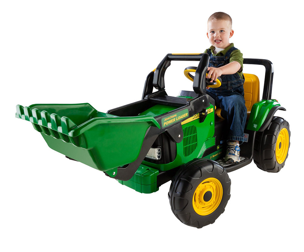 peg perego john deere power loader toys games. Black Bedroom Furniture Sets. Home Design Ideas