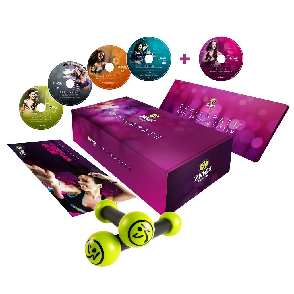 Zumba Fitness Exhilarate Body Shaping System DVD  Multi  Small Zumba Fitness Exhilarate Dvd