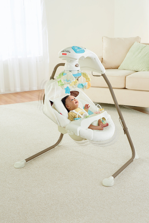 Fisher Price My Little Lamb Cradle N Swing Ebay