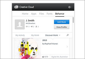 Built-in integration with Behance ProSite