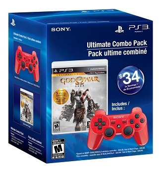 Buy Ultimate Combo Pack: God of War Saga &amp; Deep Red DUALSHOCK 3 Wireless 