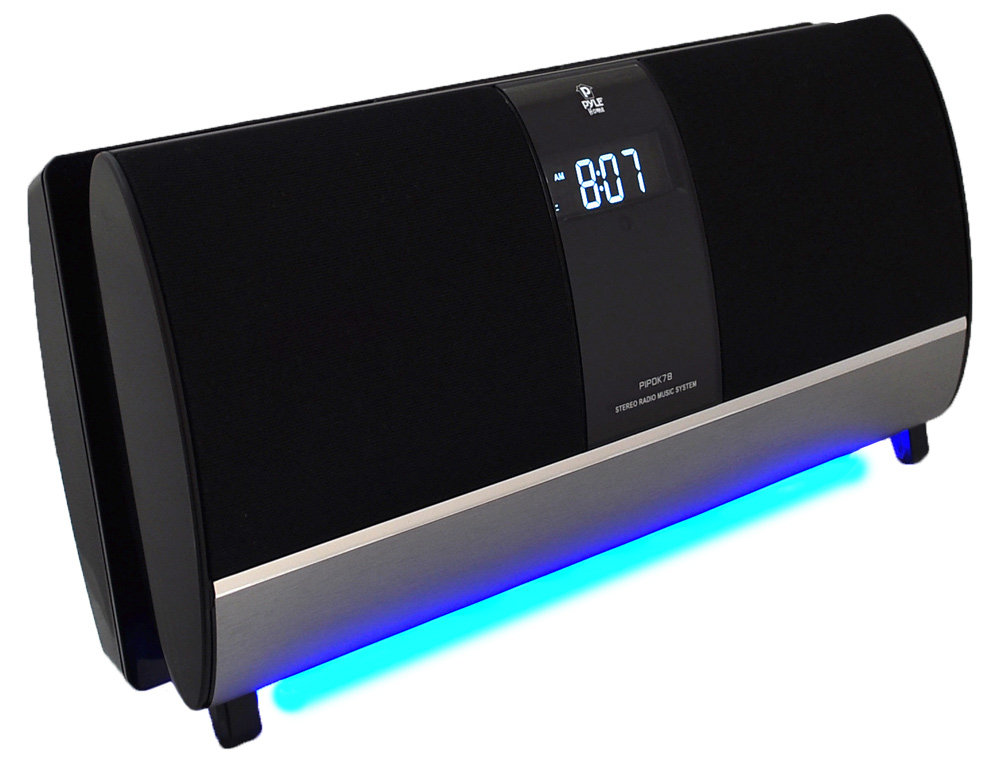 pyle fm receiver radio with ipod ipad iphone docking station and. Black Bedroom Furniture Sets. Home Design Ideas