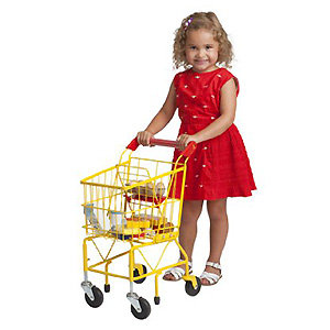 Kids shopping cart has everything your child needs for a realistic shopping experience.