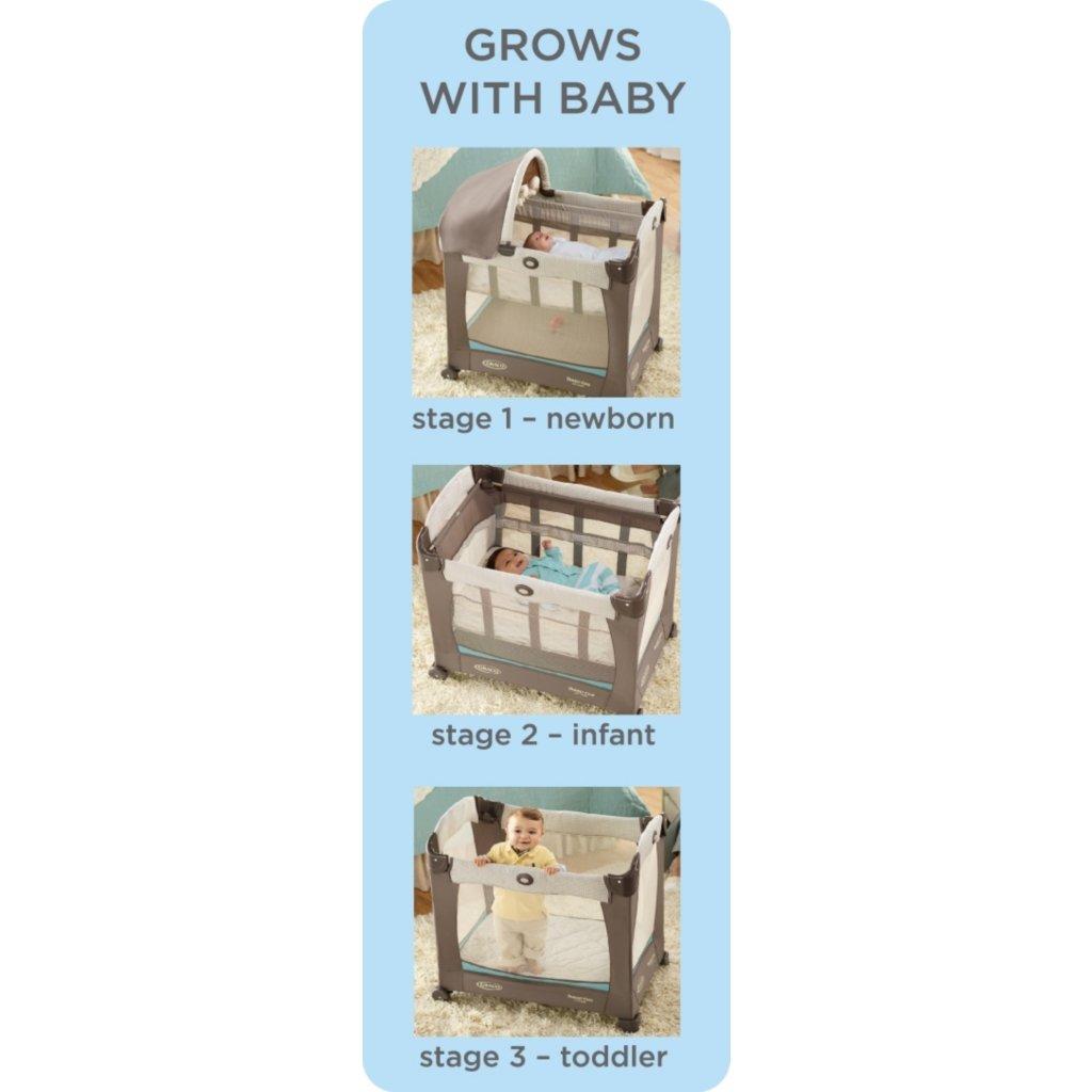 Amazon Com Graco Travel Lite Crib With Stages Peyton