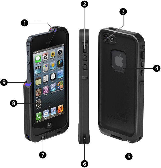 Lifeproof iphone 5s nuud series white clear