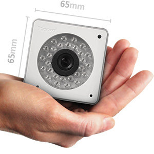 So small that it fits into the palm of your hand, measuring only 65 x 65mm / 2.5 x 2.5 inches