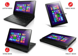 Laptop, Tablet, Stand, and Tablet+ Modes