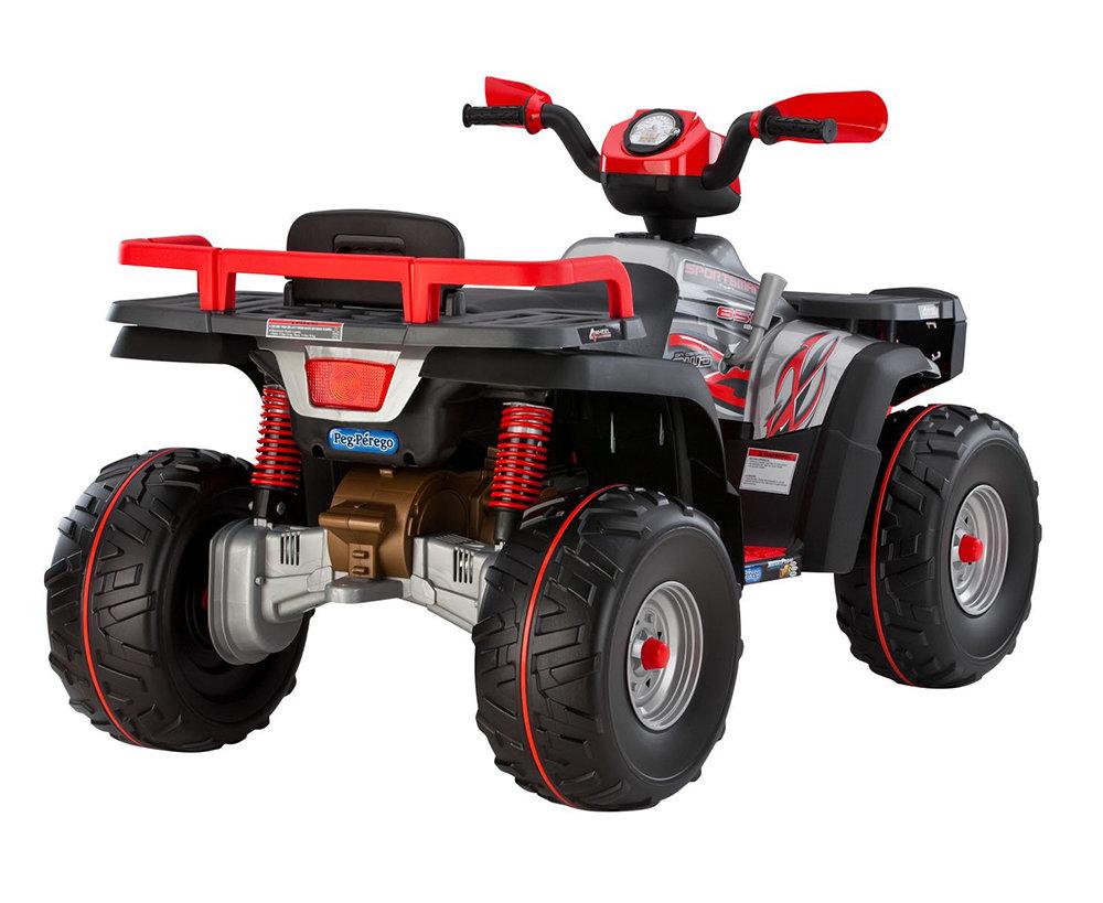 peg perego polaris atv 4 wheeler sporstman ride on toy. Black Bedroom Furniture Sets. Home Design Ideas