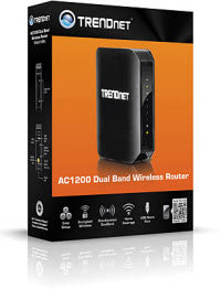 TRENDnet Wireless AC1200 Dual Band Gigabit Router with USB Share Port