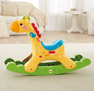 Interactive giraffe is a fun first friend for baby.