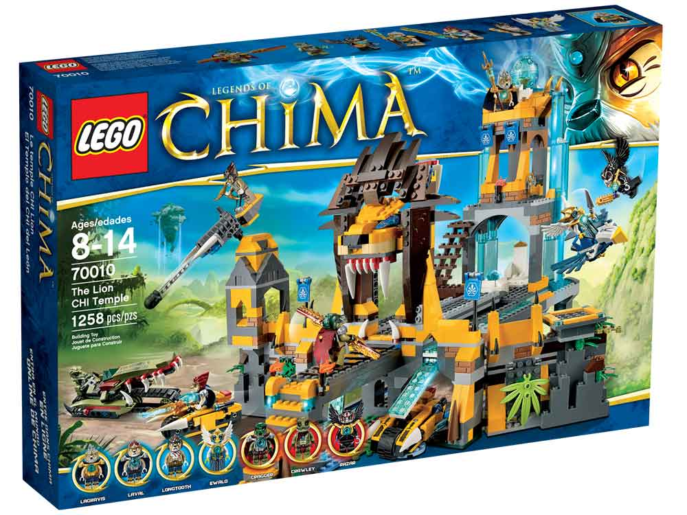 Amazon.com: LEGO Chima 70010 The Lion CHI Temple: Toys & Games