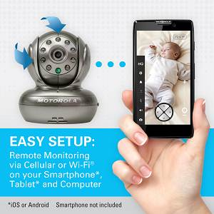 motorola blink1 wi fi video camera for remote viewing with iphone and android smartphones and. Black Bedroom Furniture Sets. Home Design Ideas