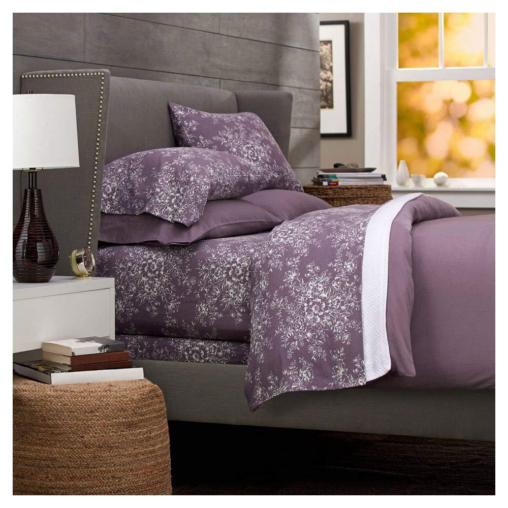 Amazon Com Pinzon Lightweight Cotton Flannel Sheet Set