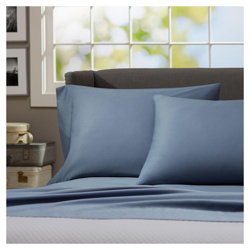 pinzon 500 thread count 100 percent super soft pima cotton sheet set queen flint. Black Bedroom Furniture Sets. Home Design Ideas