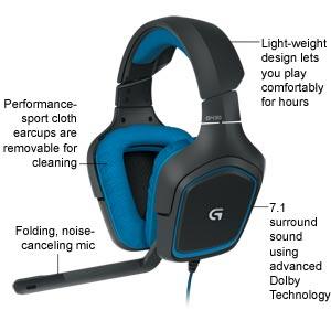 Logitech G430 서라운드 사운드 게임용 헤드셋