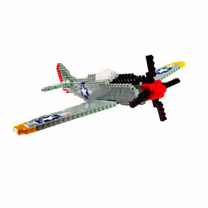 Create your very own miniature version of the P-51 Mustang in nanoblocks.