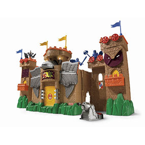 Features Action Tech technology. Interacts with the Imaginext Eagle Talon Castle.
