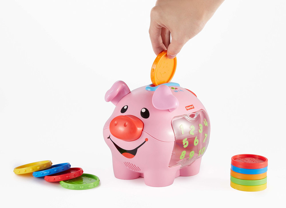 Buy fisher price laugh and learn learning piggy bank for Piggy bank for toddlers