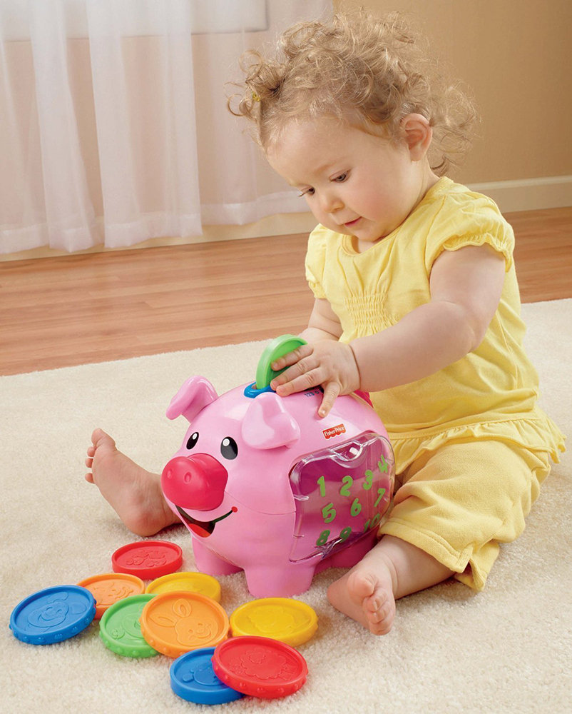 Introduces baby to counting colors size and animal names and sounds - Counting piggy bank ...