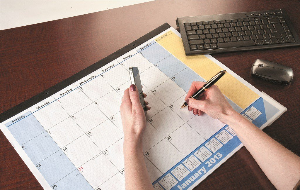 Weekly Calendar Desk Pad : Desk calendars