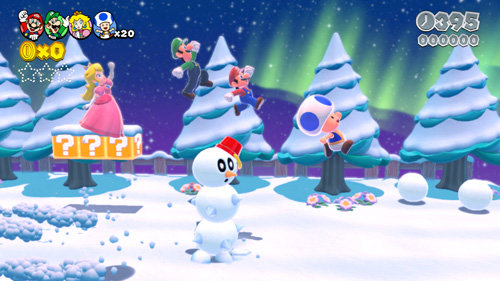 the very first game i played on the nintendo wii u is super mario 3d world