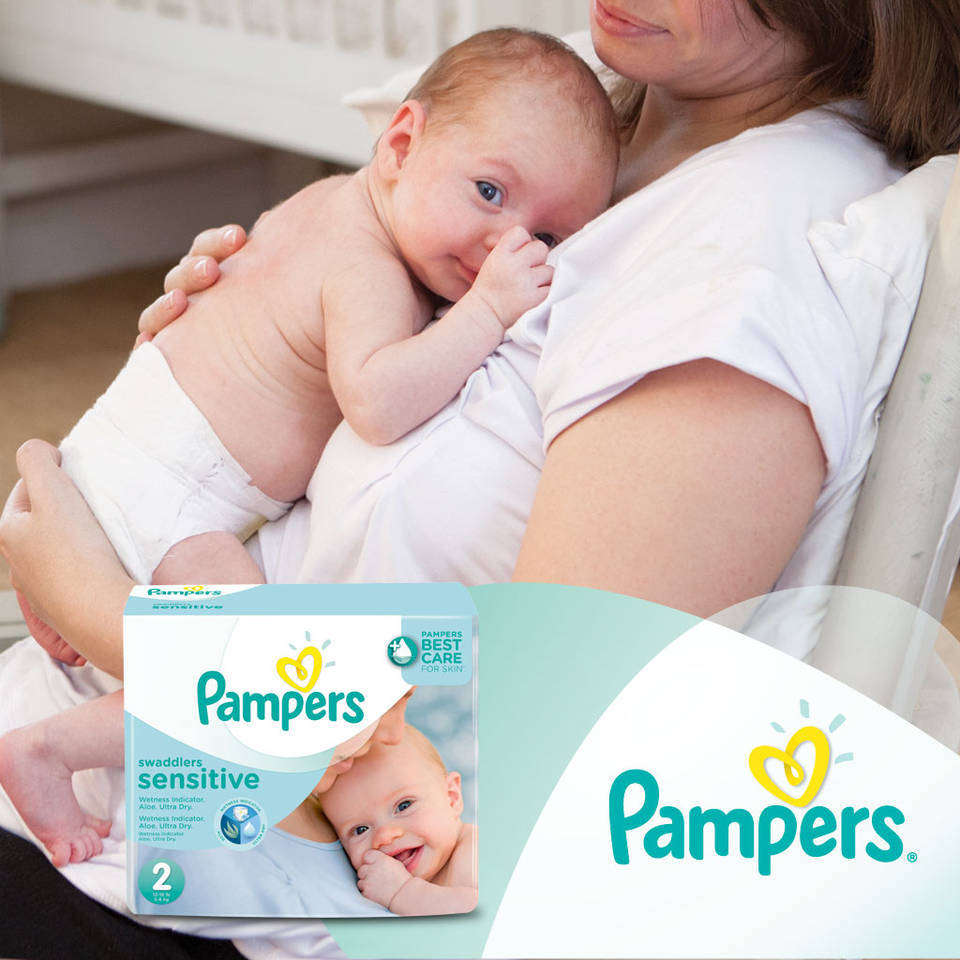 pampers swaddlers sensitive diapers size 4 economy pack plus 128 count health. Black Bedroom Furniture Sets. Home Design Ideas