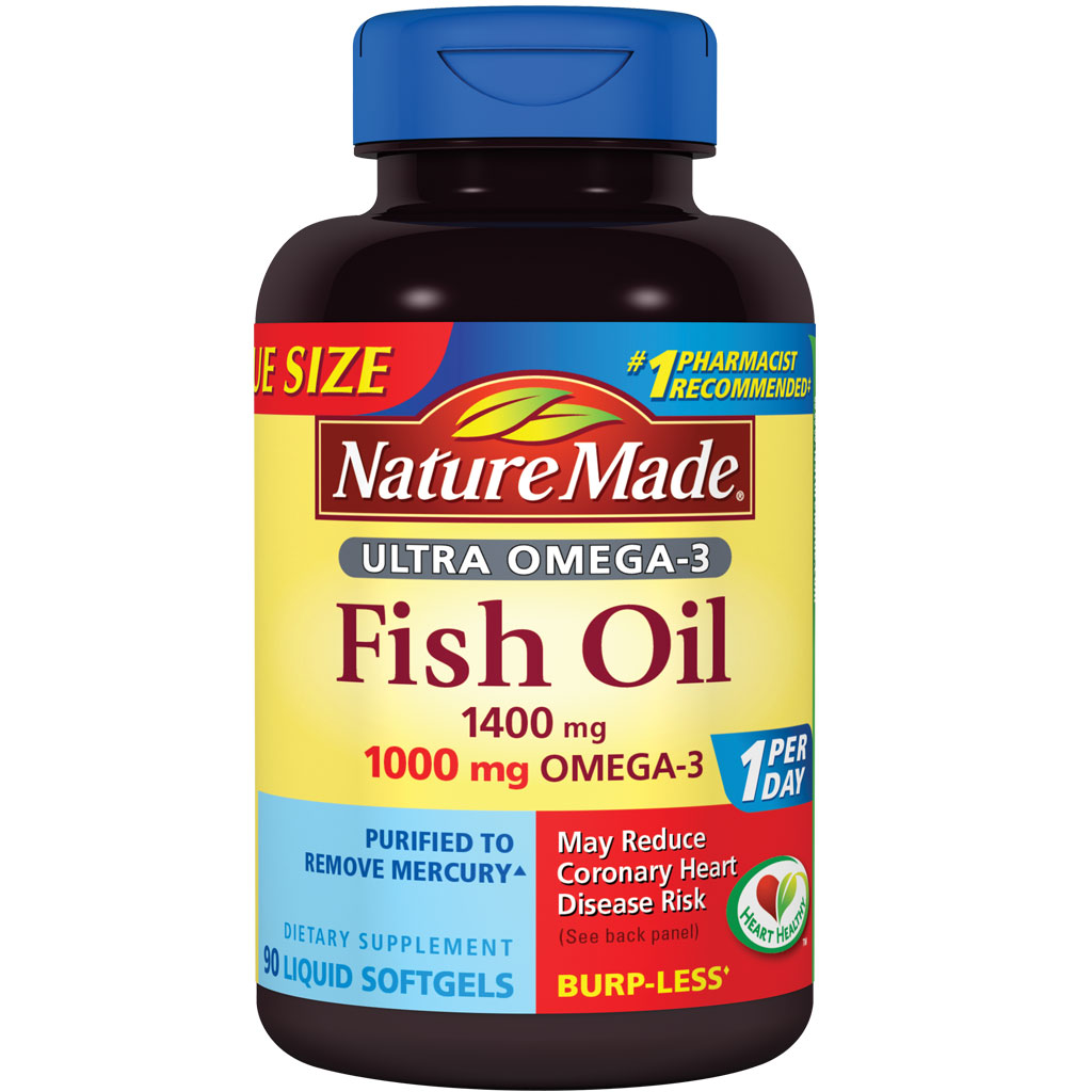 Nature Made Ultra Omega-3 Fish Oil Value Size Softgel, 1400 mg, 90
