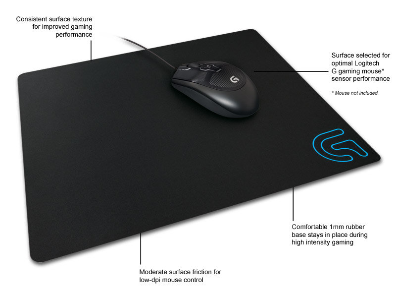 Amazon Com Logitech G240 Cloth Gaming Mouse Pad For Low