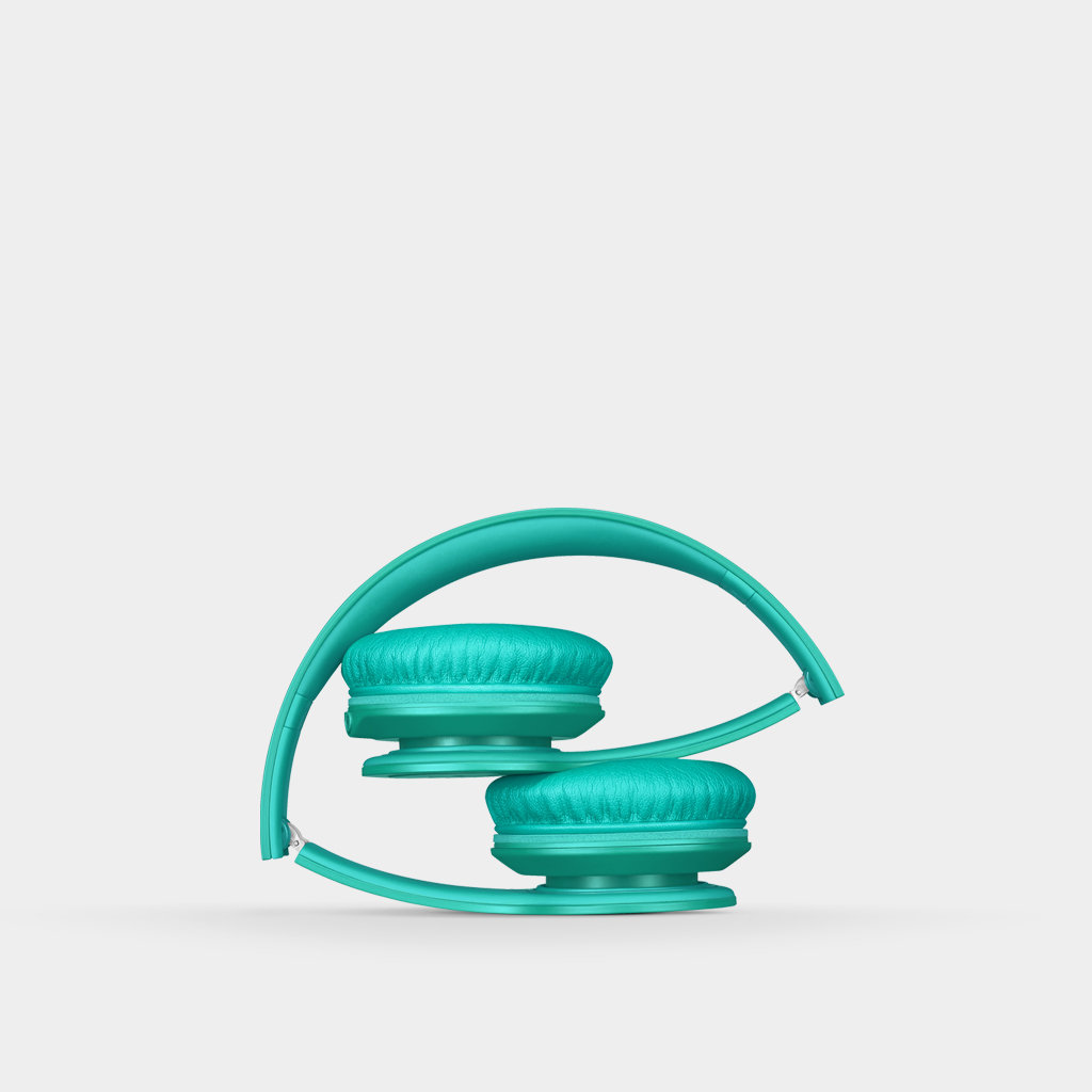 Beats Solo HD On Ear Headphone Drenched in Teal
