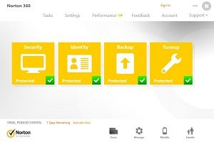 Norton 360 antivirus software