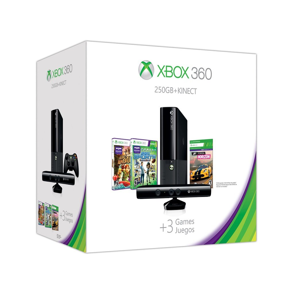 Amazon.com: Xbox 360 E 250GB Kinect Holiday Value Bundle ...