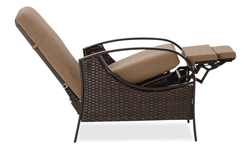 weather wicker deep seating outdoor recliner patio lawn garden