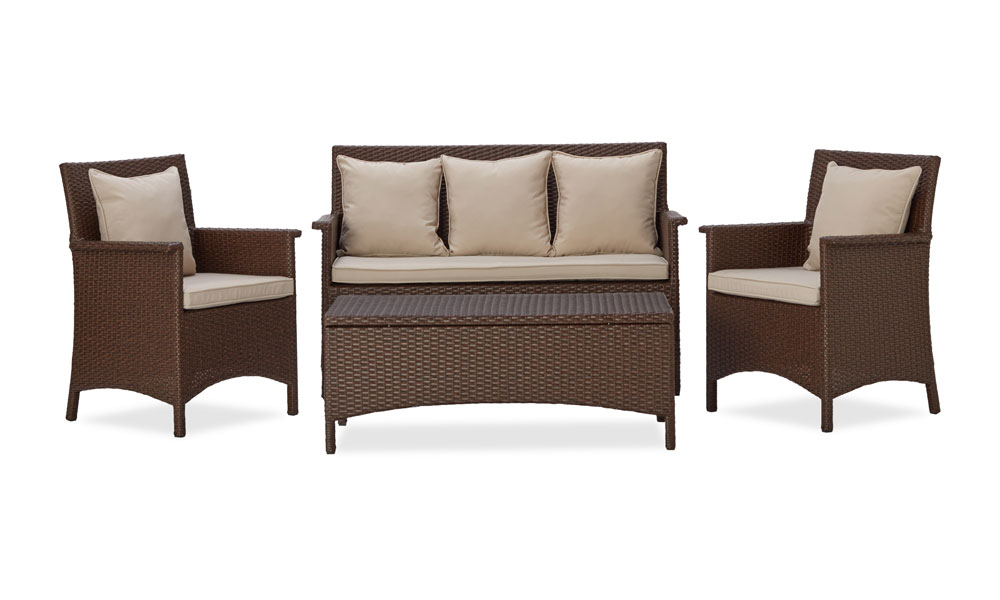 Strathwood all weather wicker 4 piece for Outdoor furniture amazon