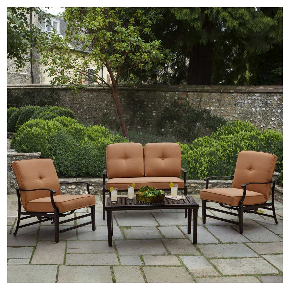 durable outdoor furniture creates a welcoming space to relax or