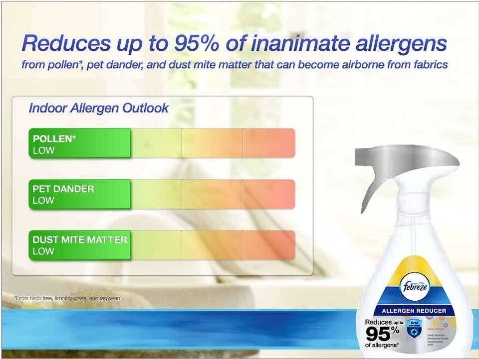 febreze fabric refresher allergen reducer unscented air freshener 1. Black Bedroom Furniture Sets. Home Design Ideas