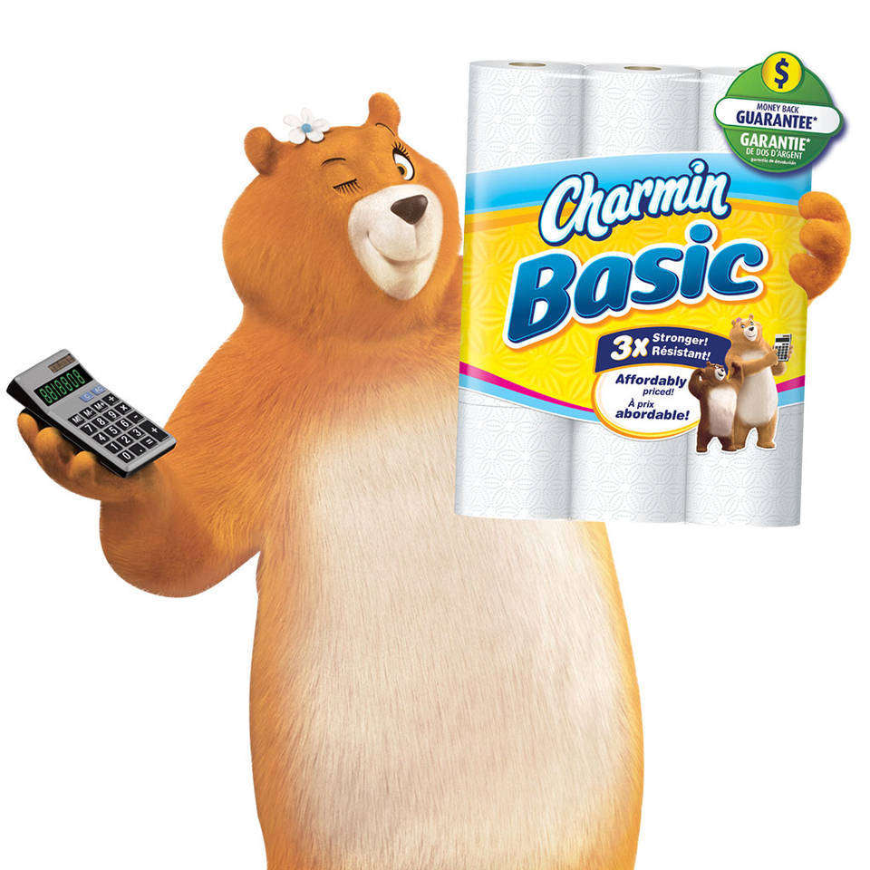 Amazon.com: Charmin Basic Toilet Paper 36 Huge Rolls