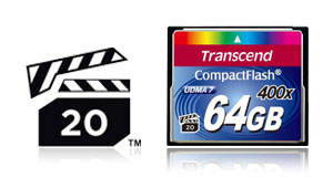 Transcend 400x CompactFlash cards