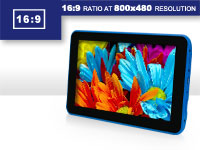 Digital2 Tablet at 16:9 widescreen display