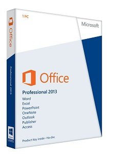microsoft office professional 2013 license card 1 user pc software. Black Bedroom Furniture Sets. Home Design Ideas