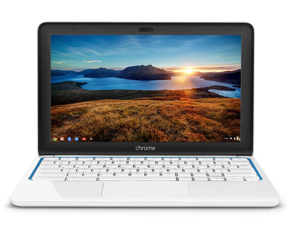 Amazon.com : HP Chromebook 11-1101 (White/Blue) : Computers