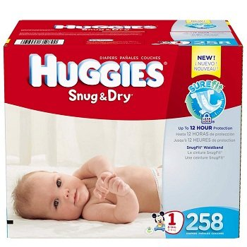 Huggies Snug N Dry Size 1 Diapers
