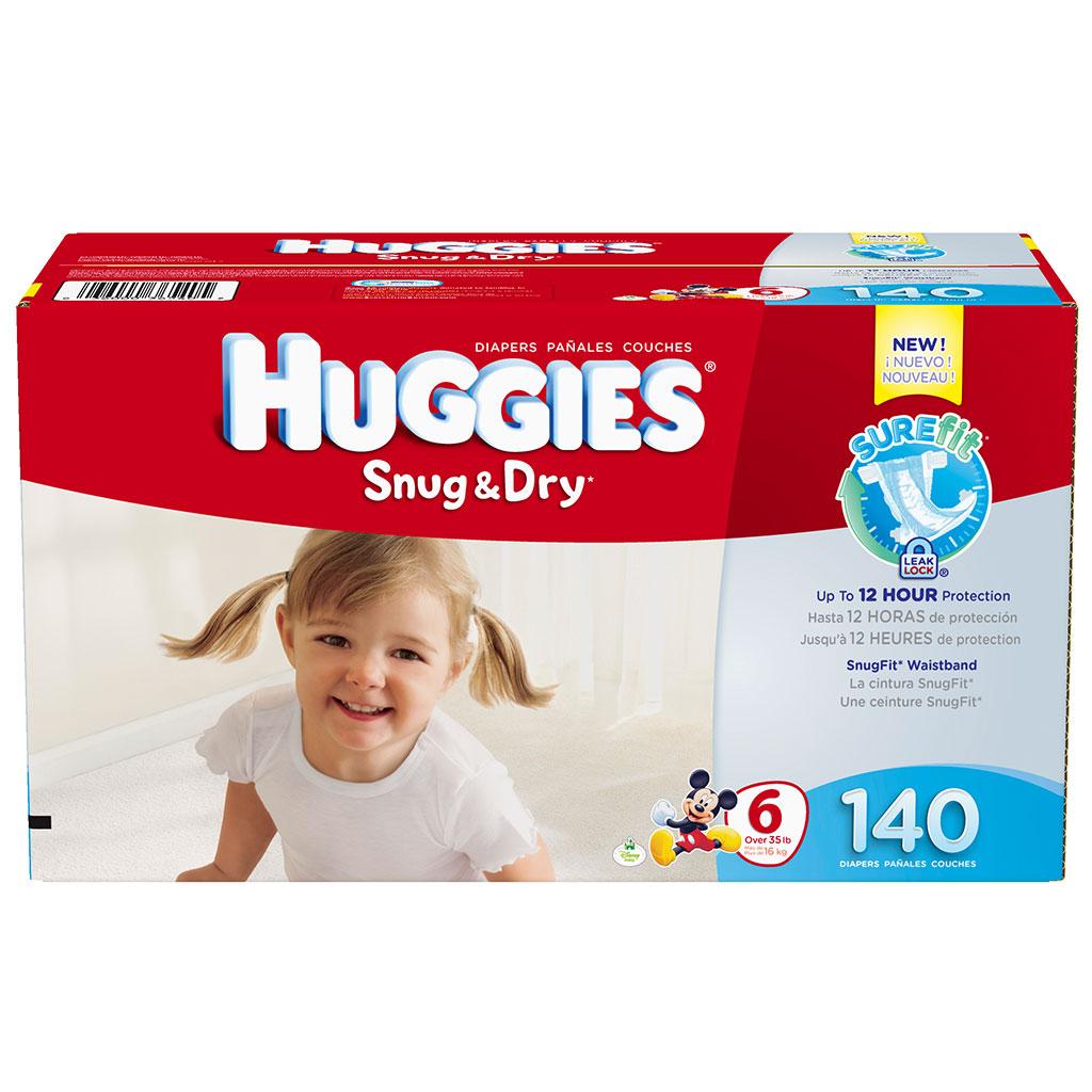Amazon.com: Huggies Snug and Dry Diapers, Size 6, Economy Plus Pack