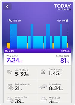 Jawbone Wristband iPhone Screenshot